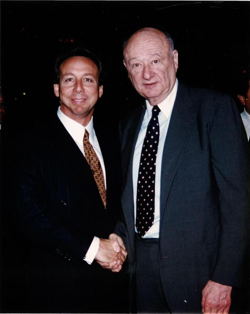 Steven Schwartzapfel with mayor